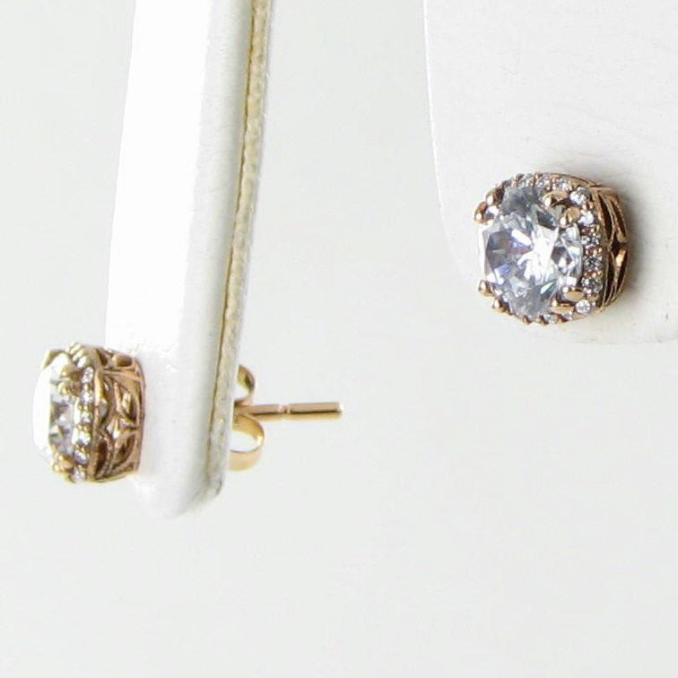 Tacori Earrings Dantela Pretty in Pink 0.16cts Diamond