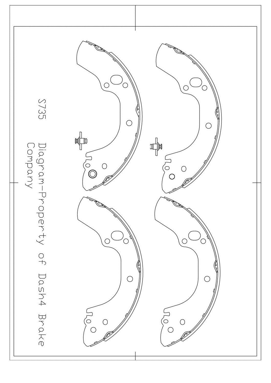 Drum Brake Shoe-Dash4 Rear Dash 4 Brake B735 98-02 Honda