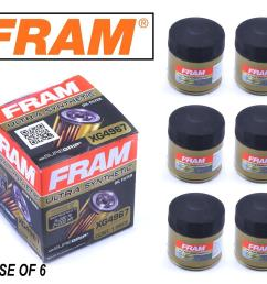 details about 6 pack fram ultra synthetic oil filter top of the line fram s best xg4967 [ 1077 x 913 Pixel ]