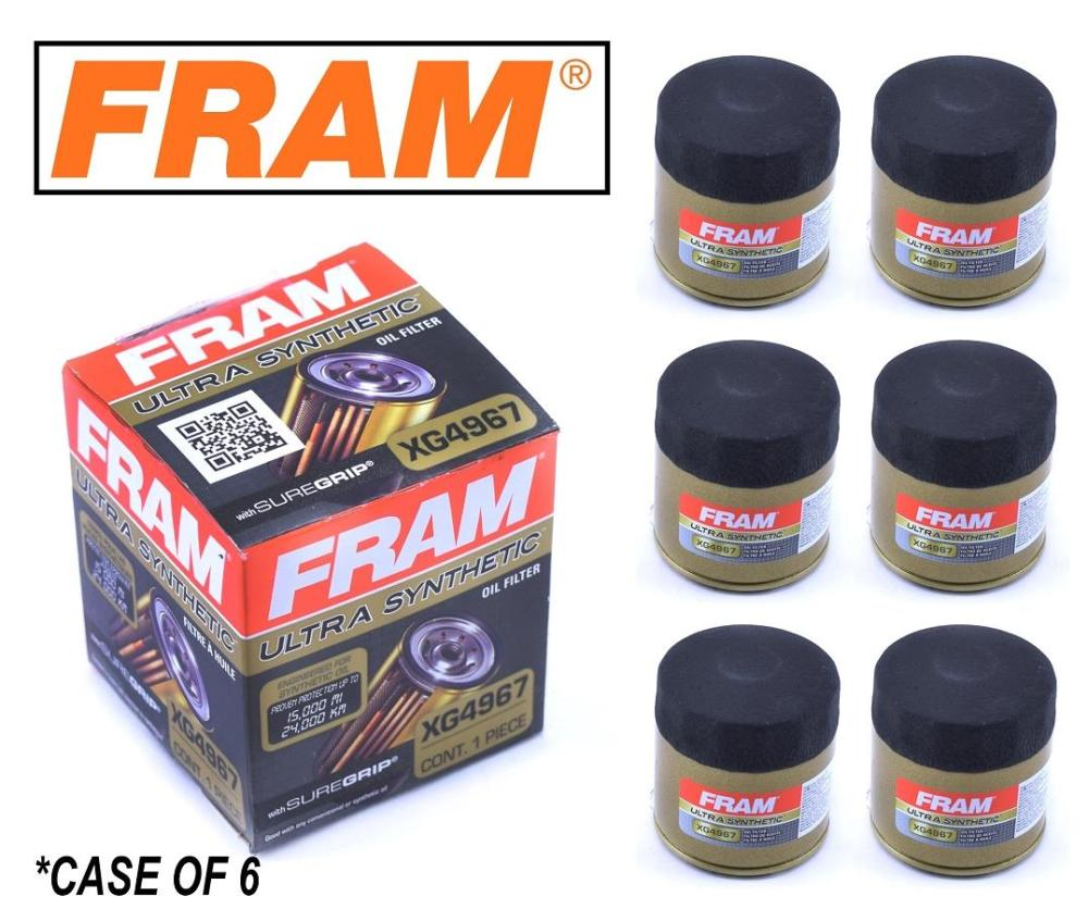 medium resolution of details about 6 pack fram ultra synthetic oil filter top of the line fram s best xg4967