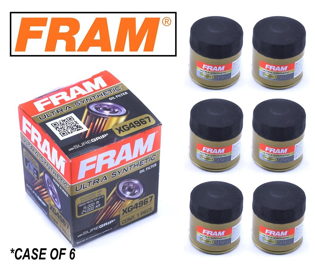 hight resolution of details about 6 pack fram ultra synthetic oil filter top of the line fram s best xg4967