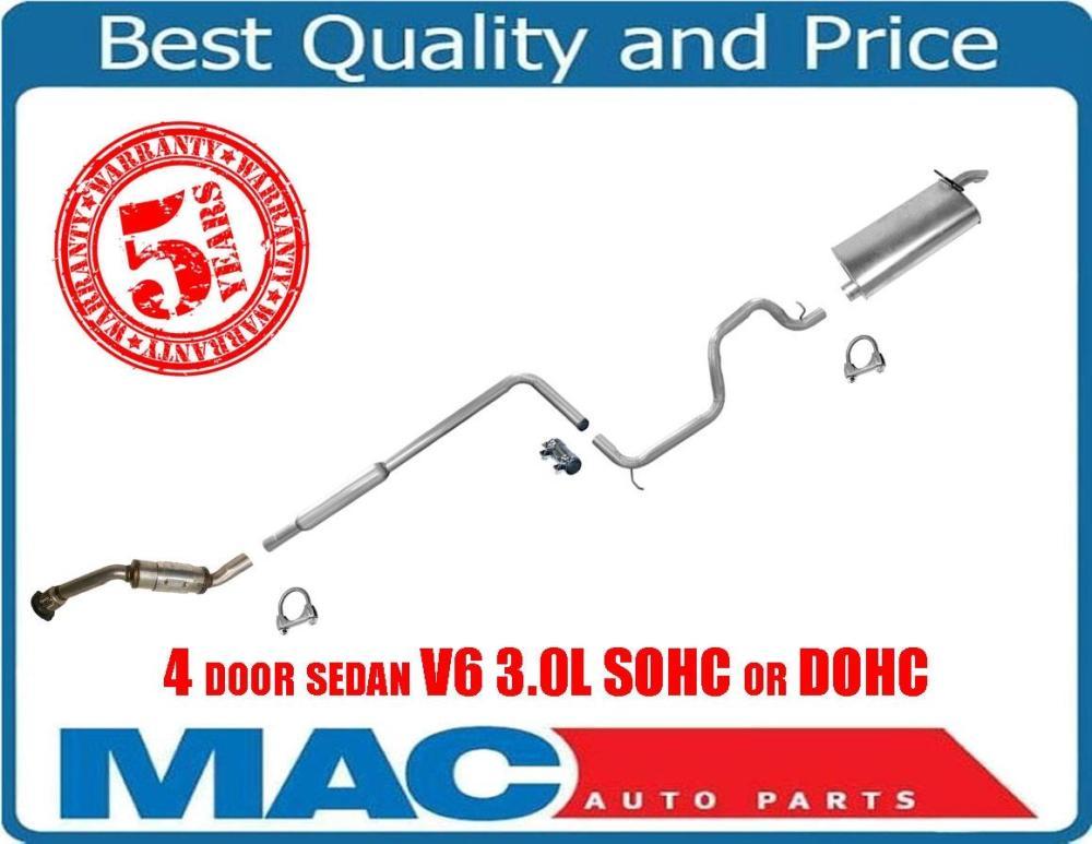 medium resolution of taurus 00 07 sable 00 05 4 door sedan v6 3 0l sohc or dohc exhaust system