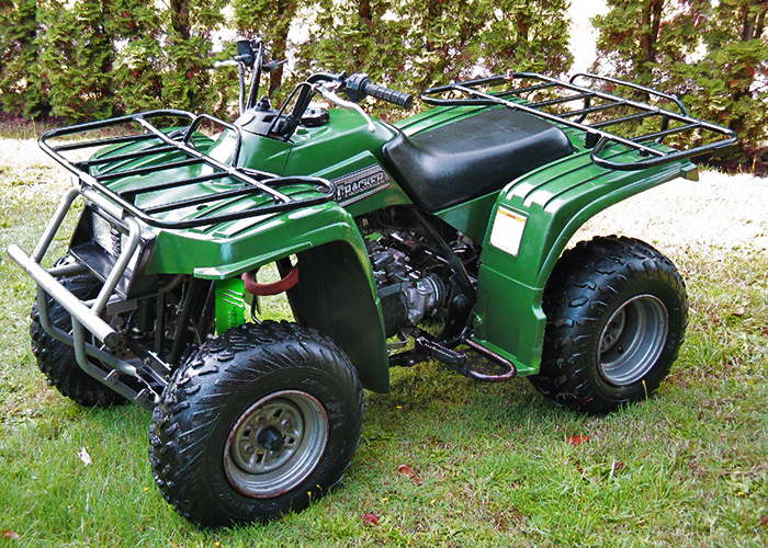 Green Shock Covers Yamaha Grizzly 125 Beartracker
