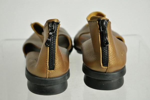 Arche Brown Open Toe Zipper Sport Sandals Shoes Size