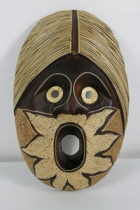 Hand Carved African Wall Art Hanging Mask | eBay