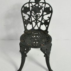 Cast Iron Outdoor Chairs Lowes Shower Chair Vintage Doll Planter Ebay