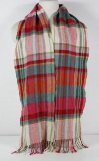 Tie Rack London Multi Color 100% Cashmere Fringe Scarf