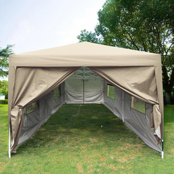 Quictent 10x20 Feet Screen Curtain Ez Pop Canopy Party Tent Gazebo-6 Colors