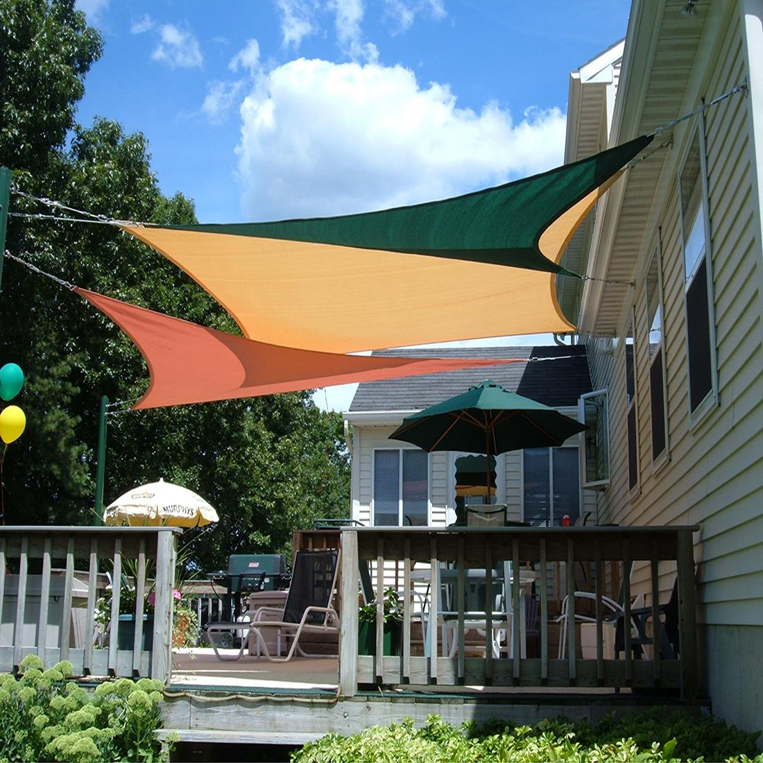 Quictent 12/18/20 FT Triangle Sun Shade Sail Patio Pool