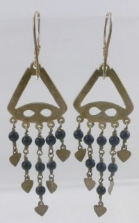 Sterling Silver Black Glass Beaded Chandelier Earrings | eBay