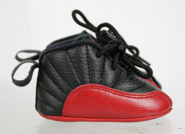 Michael Jordans Black Red Soft Sole Baby Sneakers Shoes
