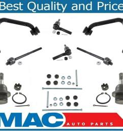 10 pc kit for 1998 2001 ford explorer upper control arm ball joint tie rod [ 1177 x 1011 Pixel ]