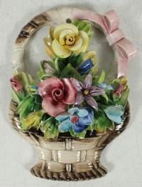 Vintage Capodimonte Porcelain Flower Basket Home Decor ...