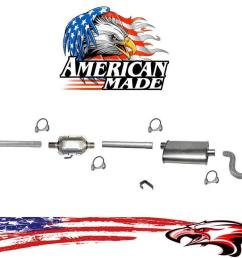 new exhaust system made in usa for jeep cj7 4 2l 85 86 w o airtube in converter [ 1318 x 743 Pixel ]