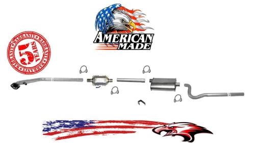small resolution of new exhaust system made in usa for jeep cj7 4 2l 85 86 w o airtube in converter