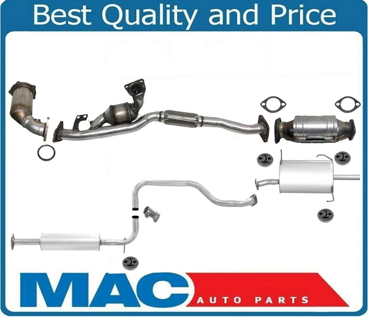 hight resolution of details about full exhaust system catalytic converters gaskets for 6 98 3 99 maxima calif emi