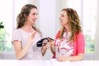 two women talking about how to get rid of unwanted facial hair