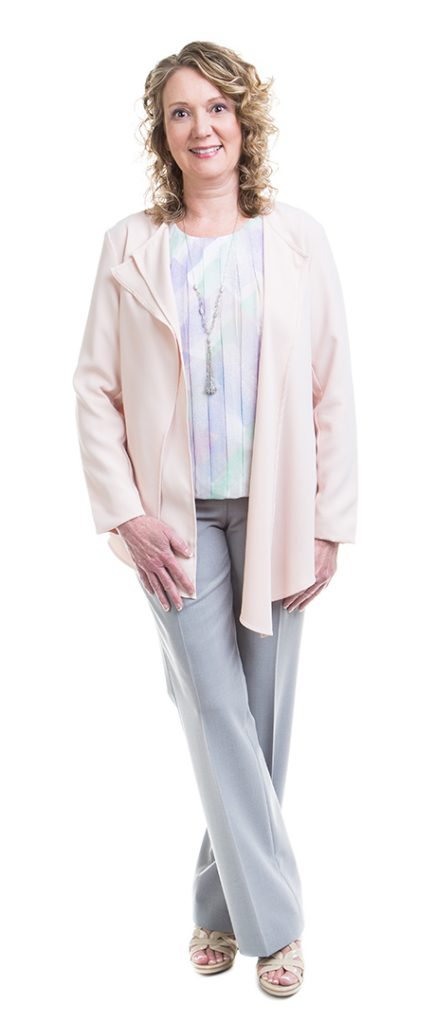 Soft subtle Type 2 woman in professional wear