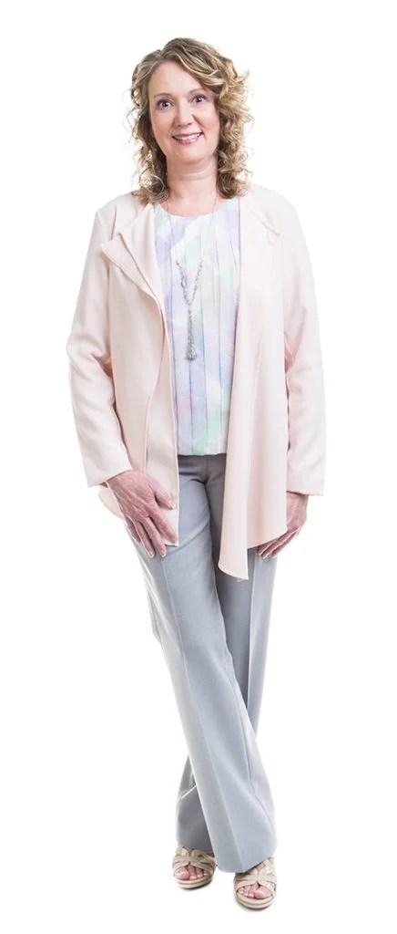 Soft subtle Type 2 woman in professional wear