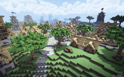 A Medieval Village Creation Minecraft PE Maps