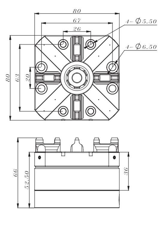 China D80 Square Chuck pneumatik ER-007521 pembekal