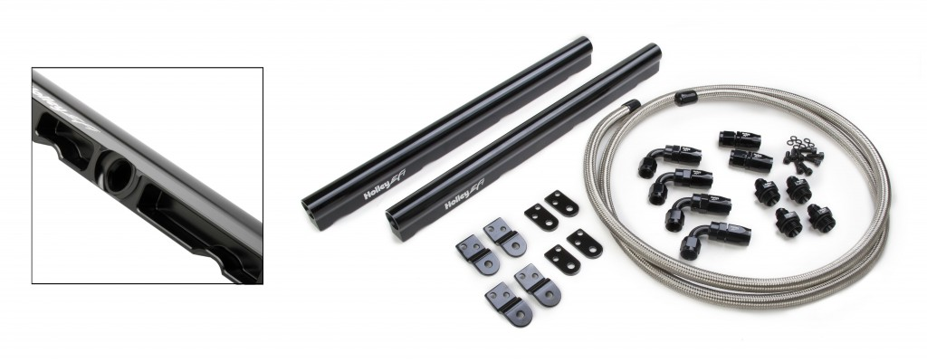 Holley Billet Aluminum Fuel Rails for LS1