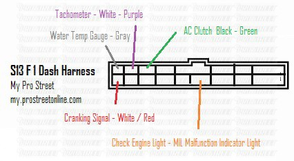 ka24de wiring diagram rack and pinion steering how to wire a s13 2jz swap my pro street here is the layout of nissan 240sx f1 dash harness you ll see handful wires need connect from your 2jzgte engine