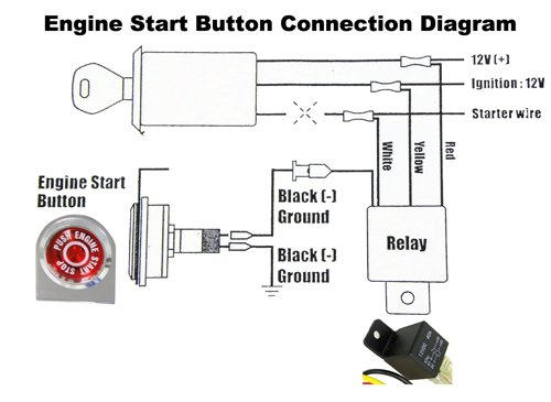 Push On Start Relay Wiring Race Car Push Button Start Race