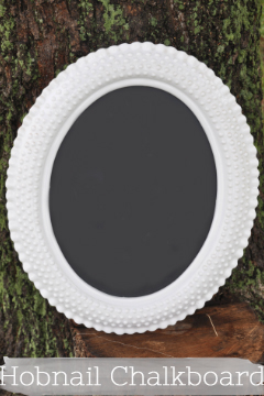 White Hobnail Chalk Board
