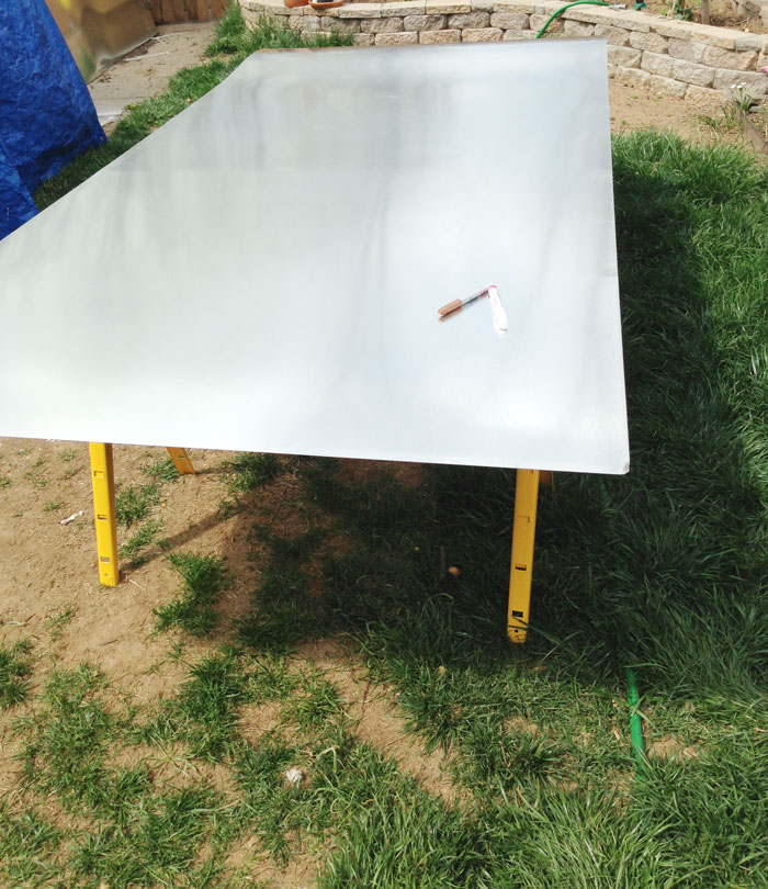 Zinc Table Top