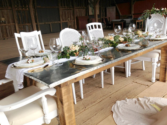 Introducing Our Industrial Farm Table