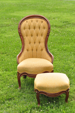 Gold Brocade Parlor Chair