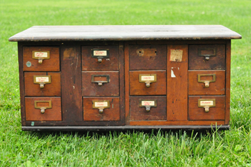 Wooden Card Catalog