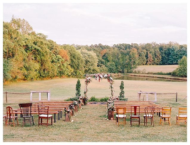 Mismatched chairs wedding washington dc