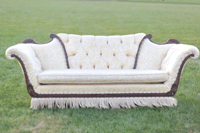 The Flapper Cream and Gold Sofa