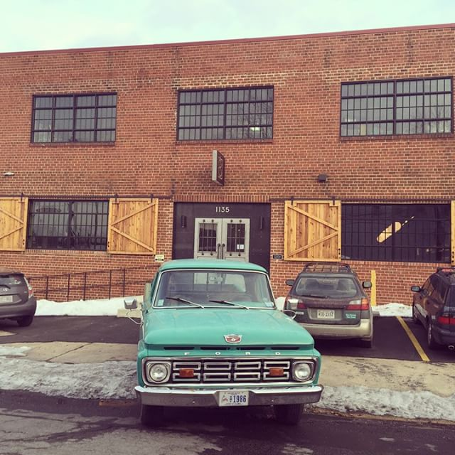 Excited for our pieces to be at DC distillery @oneeightd for their big launch party! It is an awesome #industrial event space inside too. #dc #welovedc #vintagerentals #reclaimed
