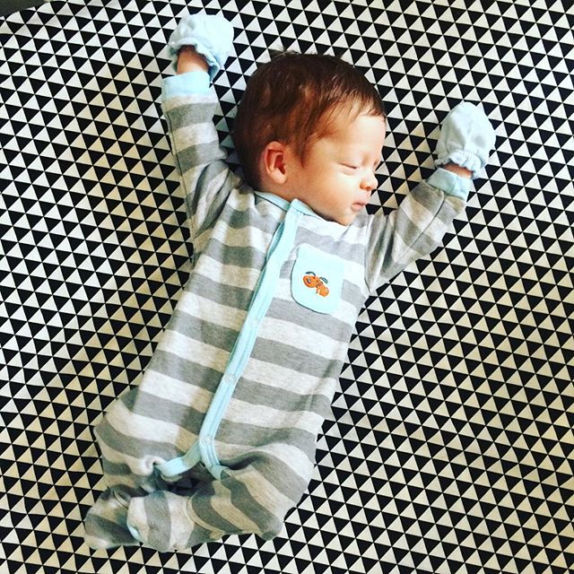 Yay for Saturday!!! | #dc #baby #babyboy #handsomehank #1month #redhead
