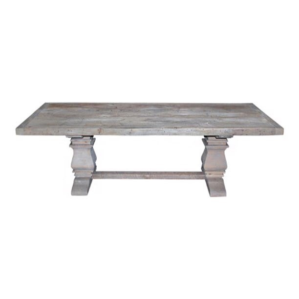 The tables we've been dying for---we're beyond excited to introduce our #reclaimed wood gray pedestal tables!!! Handmade and drop.dead.gorgeous!