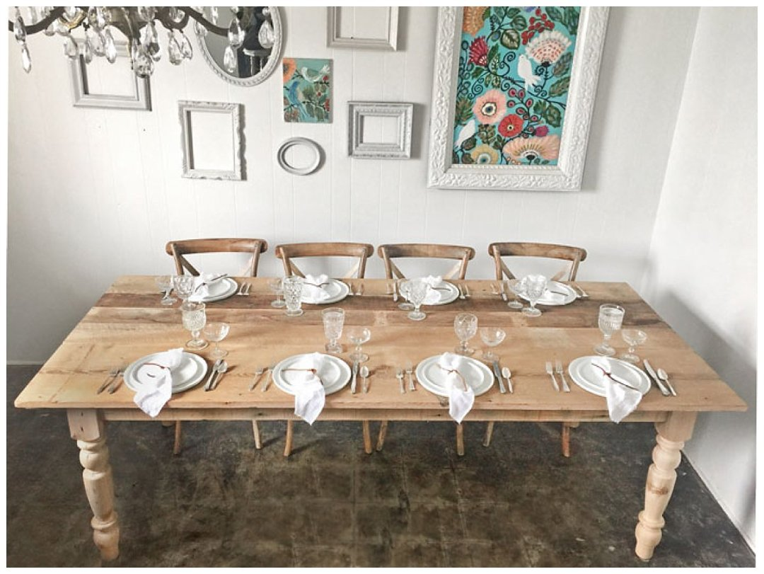 DC farm tables rentals