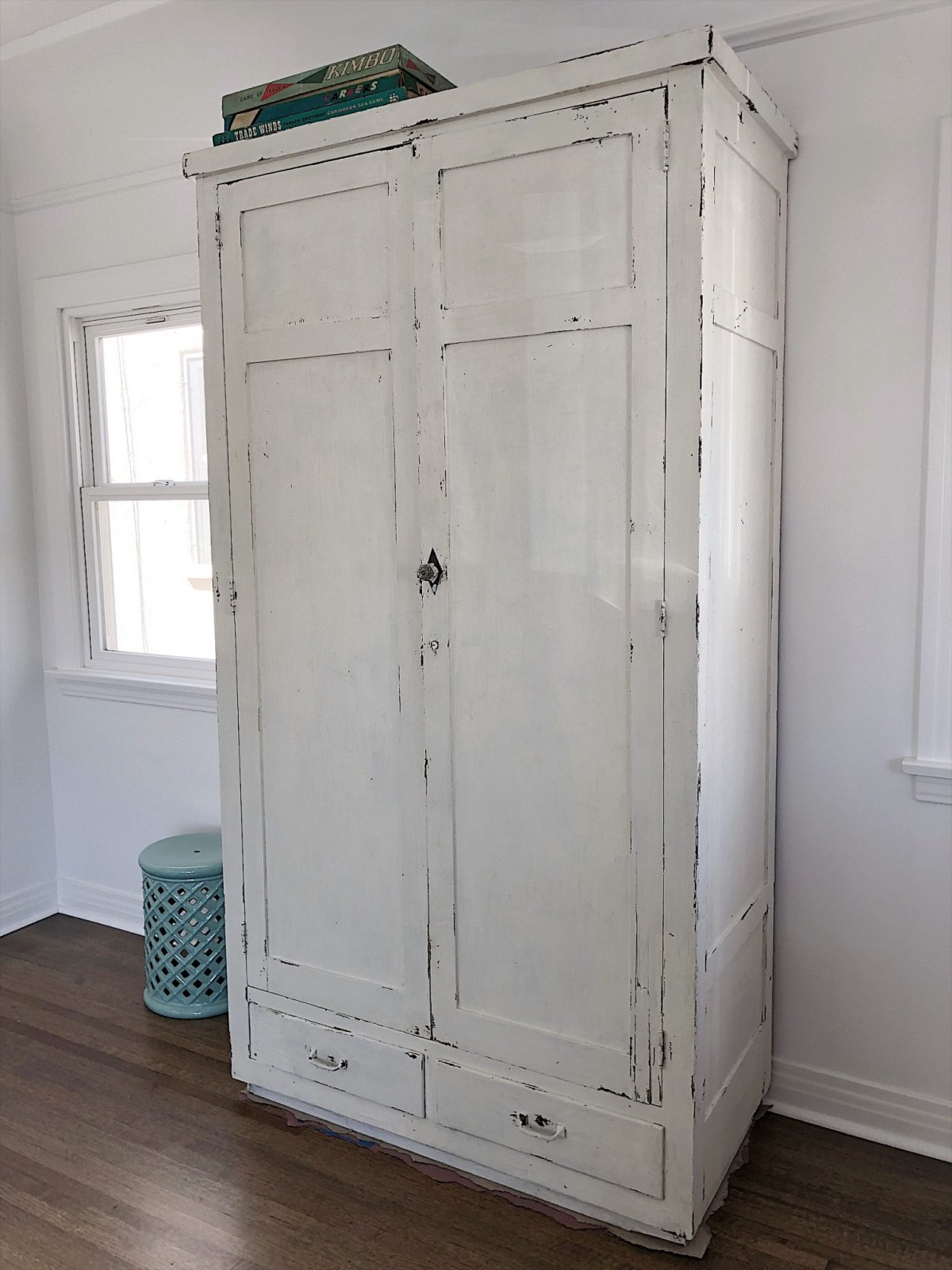 armoire painted with milk paint
