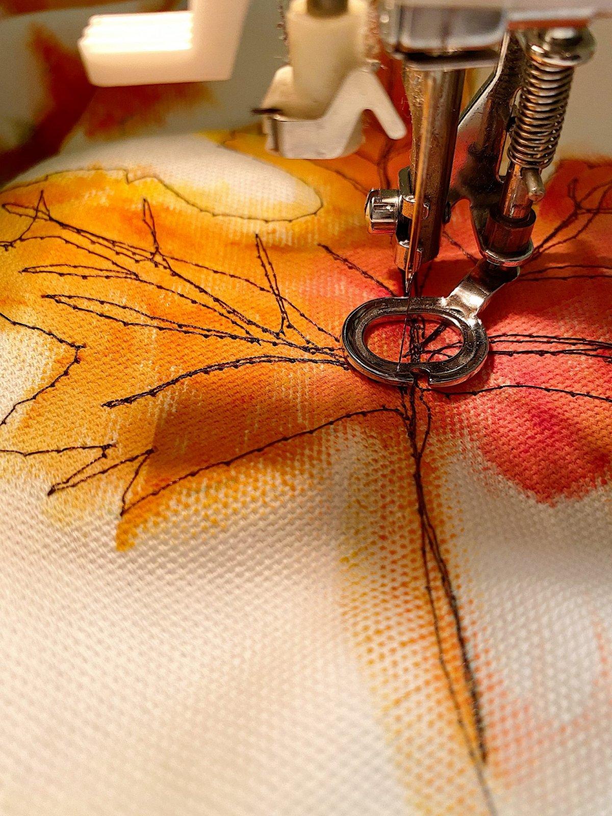 Free Motion Stitch Embroidery