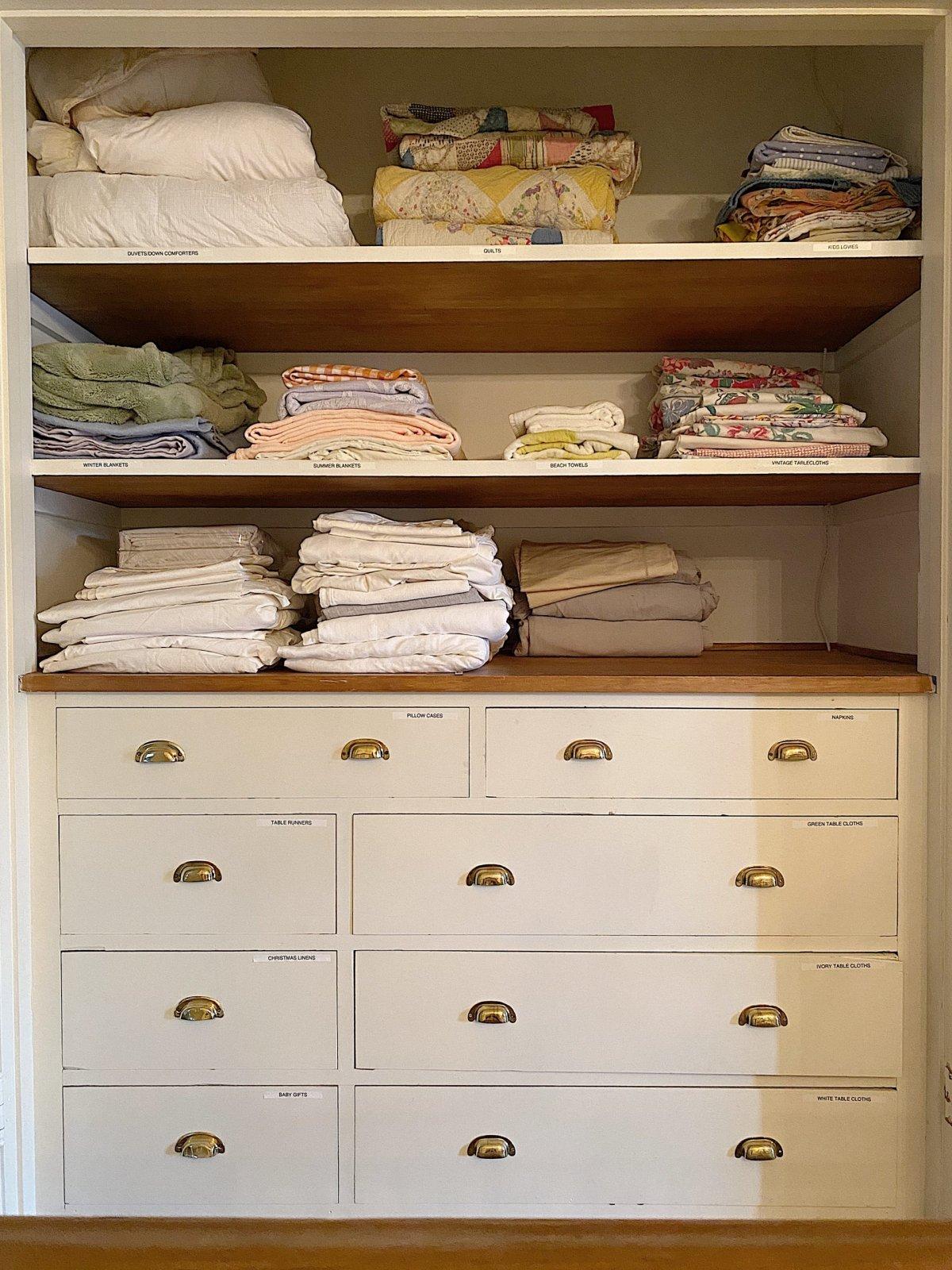 Organize a Linen Closet After Photo