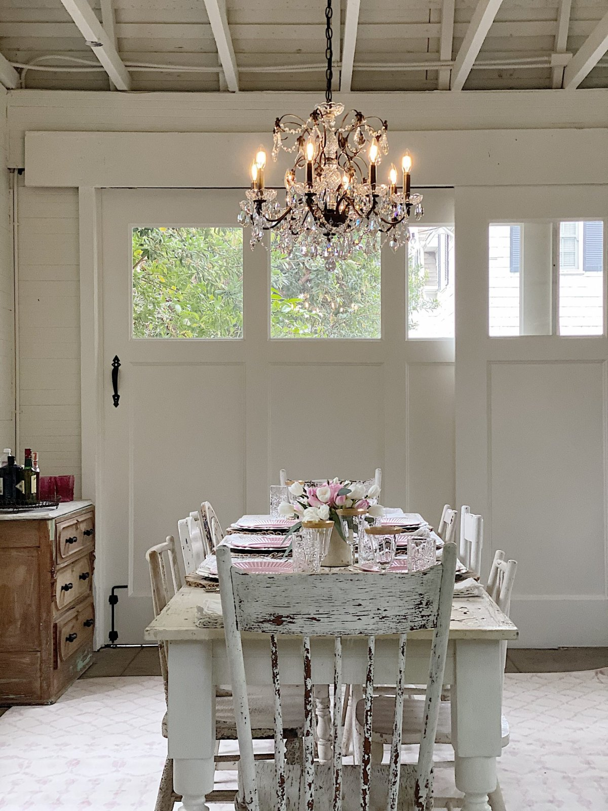 The Carriage House Reveal with Lamps Plus Chandelier