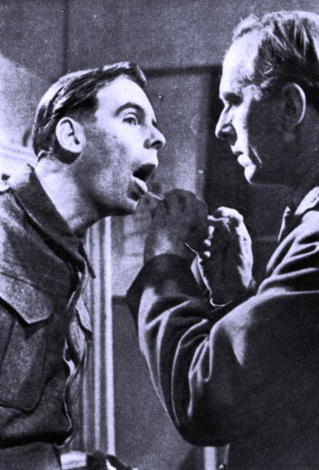 """In """"Private's Progress"""" Ian Carmichael's tongue was delicately stuck out at the Army. They didn't like it a bit."""