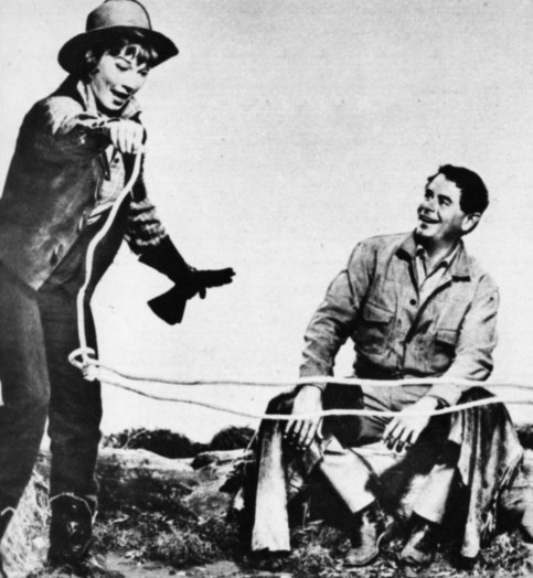 """Shirley out to get her man in """"The Sheepman."""" Glenn Ford was her co-star."""