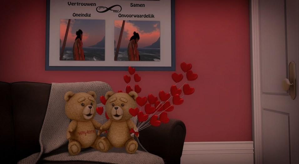 Love en Valentine Bear, elk 3 prims.