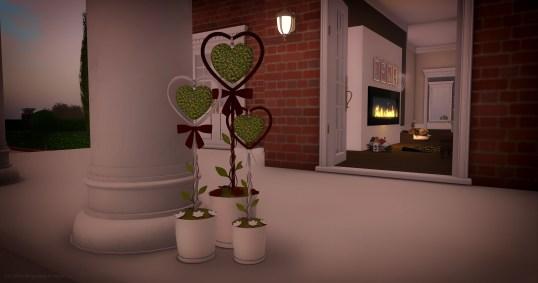 Romance Heart Planter, 6 uitvoeringen, 3 maten, groot 2 prims middel en klein 1 prim