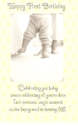 Bday card 1 yr