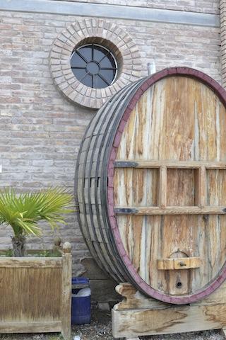 Giant wine barrel