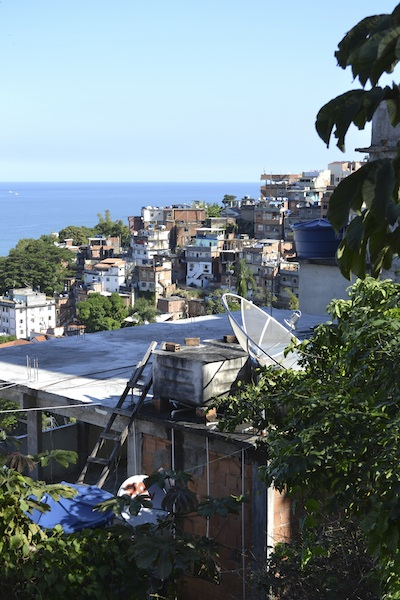 view from favela